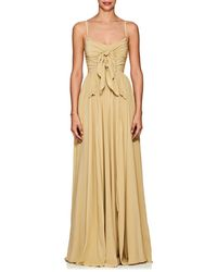 Derek Lam Self-knotted Silk Georgette Gown - Multicolour