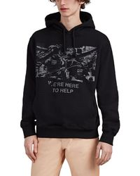 424 we're Here To Help Cotton French Terry Hoodie - Black