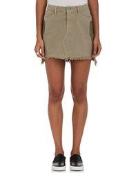 Sandrine Rose - Appliquéd Denim Miniskirt - Lyst