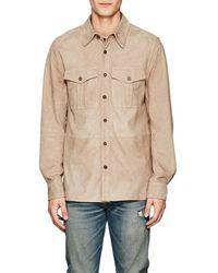 Ralph Lauren Black Label - Barron Suede Shirt Jacket - Lyst