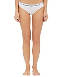 CALVIN KLEIN 205W39NYC Logo Cotton-blend Bikini Briefs - White