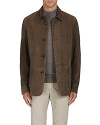 Luciano Barbera - Plaid Suede Coat - Lyst