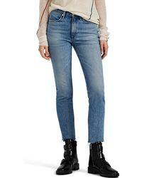 Rag & Bone Mid-rise Ankle Cigarette Jeans - Blue