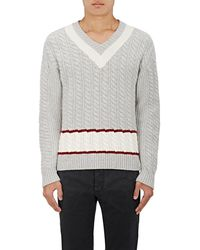 Tomas Maier - Striped Wool V - Lyst