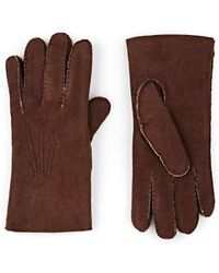 Barneys New York - Shearling-lined Leather Gloves - Lyst