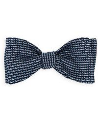 Barneys New York - Mini-rectangle-dot Silk Jacquard Bow Tie - Lyst