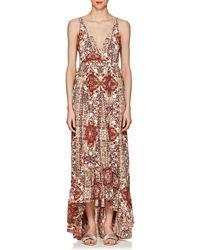 L'Agence Rosalina Pleated Silk Dress