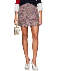 Thom Browne Wool-blend Tweed Miniskirt - Red