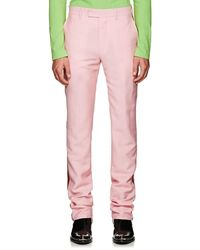 CALVIN KLEIN 205W39NYC Striped Mohair-wool Trousers - Pink