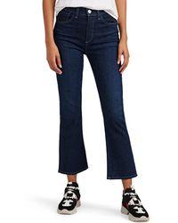 3x1 W3 Crop Boot Jeans - Blue