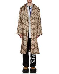 Vetements Monogram Oversized Raincoat - Natural
