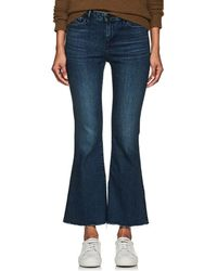 3x1 Midway Extreme Crop Bell Jeans - Blue