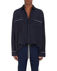 Fear Of God Cotton Twill Pyjama Shirt - Blue
