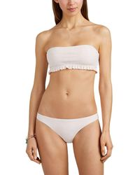 Kisuii Arianna Smocked Bandeau Bikini Top - Natural