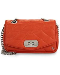 Zadig & Voltaire - Skinny Love Leather Clutch - Lyst
