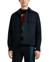 PS by Paul Smith Embroidered Cotton Work Jacket - Blue