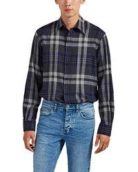 Ralph Lauren Purple Label Plaid Cotton Shirt - Blue