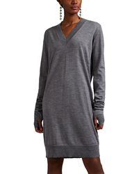 Maison Margiela Fine-gauge Knit Wool Sweaterdress - Gray