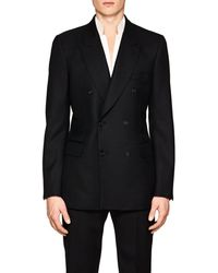 Alexander McQueen - Detachable-collar Wool-mohair Double-breasted Sportcoat - Lyst