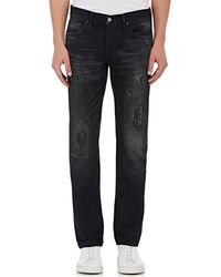Fabric-Brand & Co. - Moku Distressed Slim Jeans - Lyst
