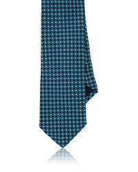 Barneys New York - Grid-pattern Silk Necktie - Lyst