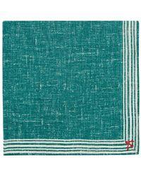 Isaia - Striped-border Cotton - Lyst