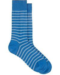 Barneys New York - Double-striped Cotton-blend Mid-calf Socks - Lyst