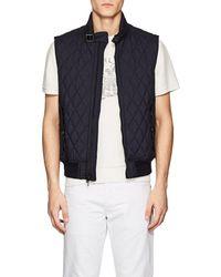Ralph Lauren Black Label - Fairfield Diamond-quilted Tech-fabric Vest - Lyst
