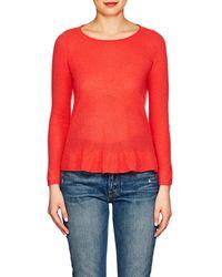 Barneys New York - Cashmere Peplum Sweater - Lyst