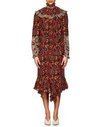 JW Anderson Paisley Crepe Layered Dress