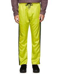Cmmn Swdn Honza Striped Satin Track Pants - Yellow