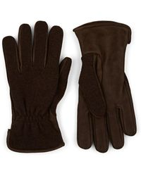 Barneys New York - Cashmere-lined Suede & Knit Gloves - Lyst