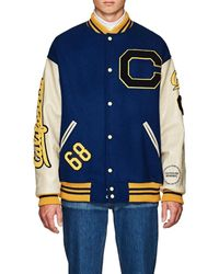 CALVIN KLEIN 205W39NYC Oversized Wool Varsity Jacket - Blue