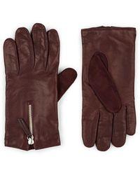 Want Les Essentiels De La Vie Mozart Zip-cuff Leather Gloves - Purple