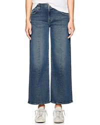 Current/Elliott The Wide Leg Crop Jeans - Blue