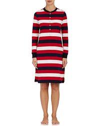 Sleepy Jones - Sydney Striped Cotton Henley Nightgown - Lyst