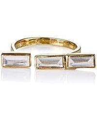 Katie Diamond - Baguette Cuff Ring - Lyst