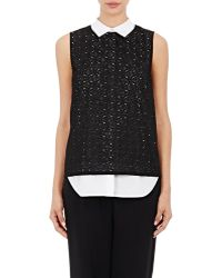 R/R Studio - Women's Embroidered-eyelet Layered Top - Lyst