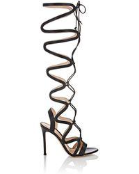 Gianvito Rossi Women's Lace-up Gladiator Sandals - Black