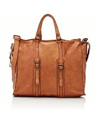 Campomaggi Women's Stonewashed Leather Duffel - Brown