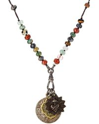 Miracle Icons - Agate Rondelle & Triple-pendant Necklace - Lyst