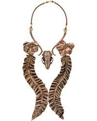 Proenza Schouler - Skull Centerpiece Necklace - Lyst