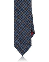 Luciano Barbera - Checked Woven Cashmere Necktie - Lyst