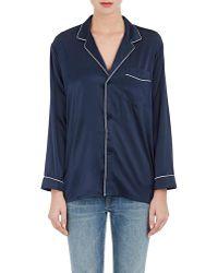 6397 - Stretch-silk Pyjama Top - Lyst