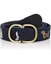 Thom Browne Embroidered Canvas Belt