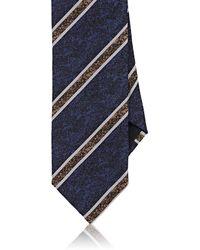 Massimo Bizzocchi - Striped Silk Crepe Necktie - Lyst