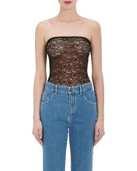 Chloé - Sheer Guipure Lace Strapless Bodysuit - Lyst