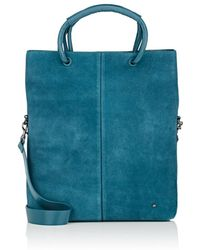 Halston - Large Suede Tote Bag - Lyst