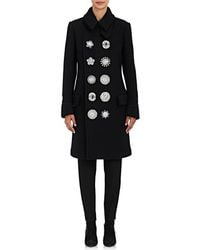Givenchy - Embellished Wool-blend Double - Lyst