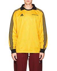 Gosha Rubchinskiy Striped Jacquard-knit Jersey - Yellow
